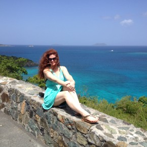 Me at an overlook on the way to Trunk Bay