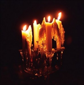 Candle wax melted into angel wings